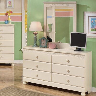Florence 6 Drawer Dresser with Mirror