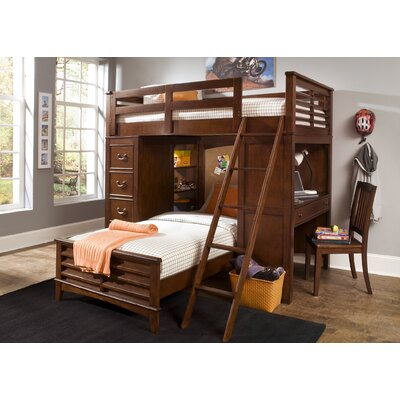 Roberta Youth Bedroom Twin Loft Bed in Burnished Tobacco