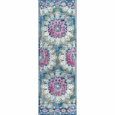 Vera Turquoise Area Rug Rug Size: Runner 28 x 8