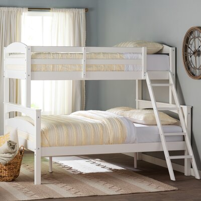 Sienna Rose Twin over Full Bunk Bed Color: White