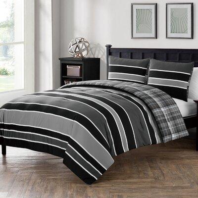 Garrett Reversible Comforter Set Size: Full