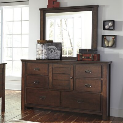 Mona 6 Drawer Combo Dresser with Mirror