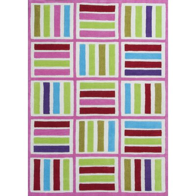 Kaylee Ivory/Pink Elements Area Rug Rug Size: Rectangle 76 x 96