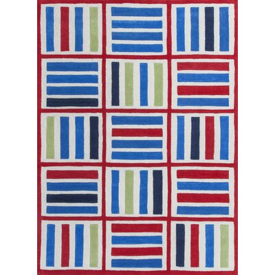 Kaylee Blue/Red Elements Area Rug Rug Size: Rectangle 76 x 96
