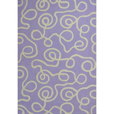Kaylee Lilac Ribbon Curls Area Rug Rug Size: Rectangle 76 x 96