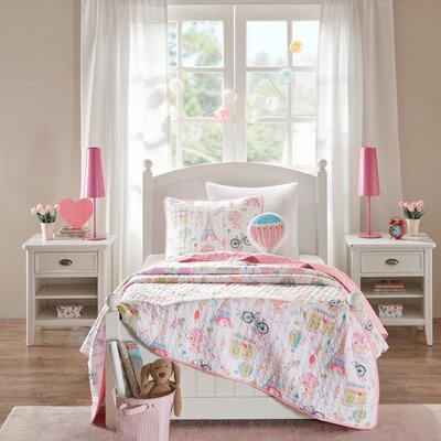 Rachael Reversible Coverlet Set Size: Twin