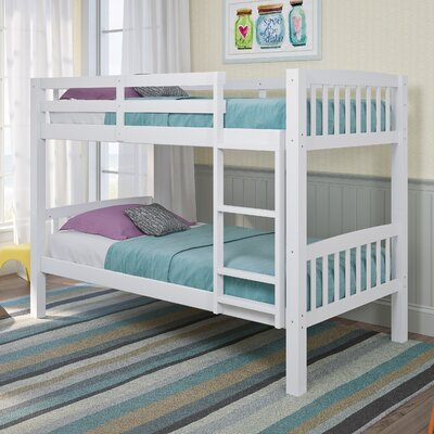 Nicholson Twin over Twin Bunk Bed Color: White