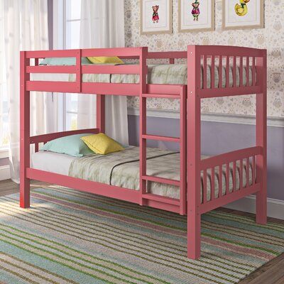Rene Twin Bunk Bed Color: Pink