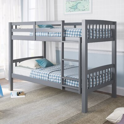 Rene Twin Bunk Bed Color: Gray