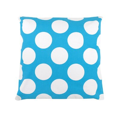 Reva Polka Dot 100% Cotton Throw Pillow Color: Baby Blue