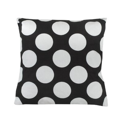 Reva Polka Dot 100% Cotton Throw Pillow Color: Black