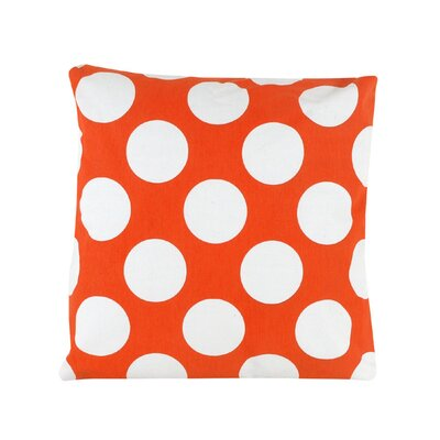 Reva Polka Dot 100% Cotton Throw Pillow Color: Orange