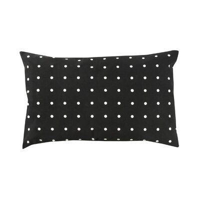 Rhoda Polka Dot 100% Cotton Lumbar Pillow Color: Black
