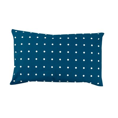 Rhoda Polka Dot 100% Cotton Lumbar Pillow Color: Navy Blue