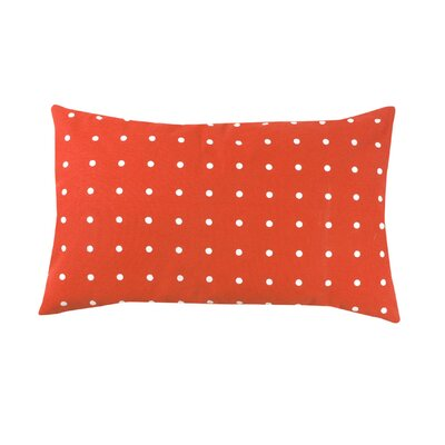 Rhoda Polka Dot 100% Cotton Lumbar Pillow Color: Orange