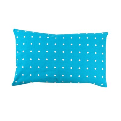 Rhoda Polka Dot 100% Cotton Lumbar Pillow Color: Baby Blue