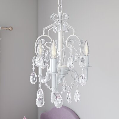Caden 3-Light Crystal Chandelier Finish: Diamond