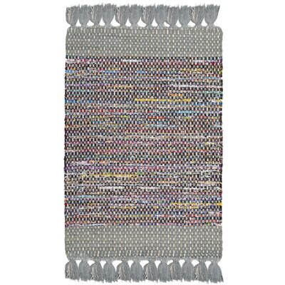 Abner Hand-Woven Gray/Yellow Area Rug Rug Size: Rectangle 2 x 3