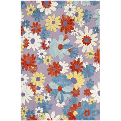 Lawanda Lilac/ Blue Area Rug Rug Size: Rectangle 5 x 8