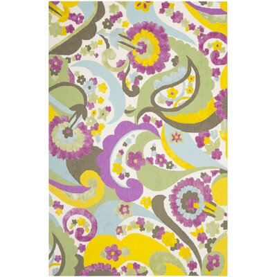 Lawanda Green/Fuchsia Area Rug Rug Size: Rectangle 4 x 6