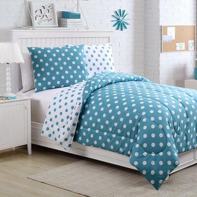 Sadie Comforter Set Size: Full, Color: Aqua