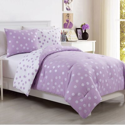 Sadie Comforter Set Size: Twin, Color: Purple
