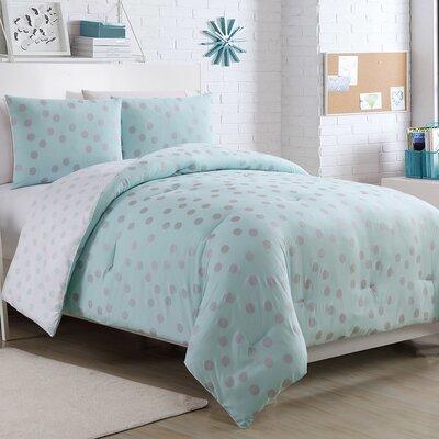Sadie Comforter Set Size: Full, Color: Metalic Aqua