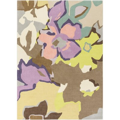 Stone Hand-Tufted Floral and paisley Area Rug Rug Size: 8 x 10