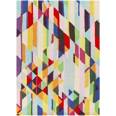 Aero Hand-Tufted Wool Geometric Area Rug Rug Size: 8 x 10