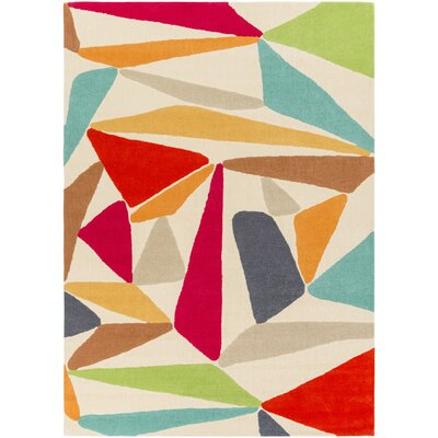 Aero Hand-Tufted Geometric Area Rug Rug Size: Rectangle 5 x 76