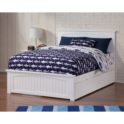 Bermuda Platform Bed with Trundle Finish: White, Size: Full