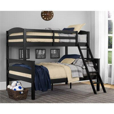 Sienna Rose Twin over Full Bunk Bed Finish: Black