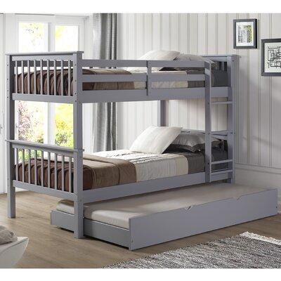 Esmeralda Solid Wood Twin Standard Bed with Trundle Finish: Gray