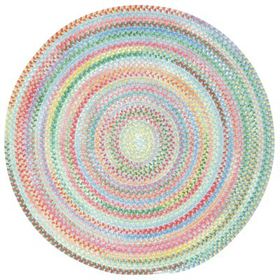 Melanie Braided Cotton Area Rug Rug Size: Round 28