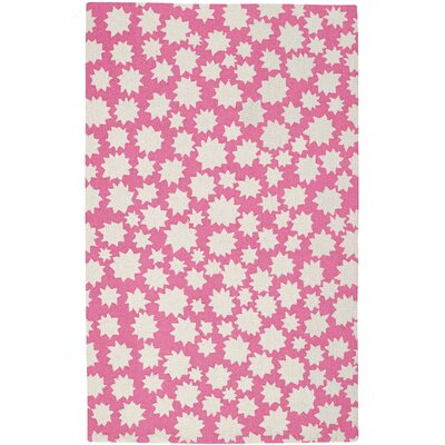 Daisy Sky Heavenly Machine Woven Pink Area Rug Rug Size: 7 x 9