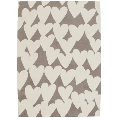 Daisy Confectionary Valentine Machine Tufted Brown/Beige Area Rug Rug Size: 2 x 3
