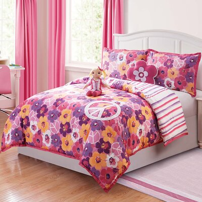 Ariana 5 Piece Reversible Comforter Set Size: Full