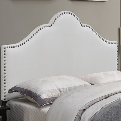 Carly Upholstered Panel Headboard Upholstery: Ivory, Size: Full/Queen