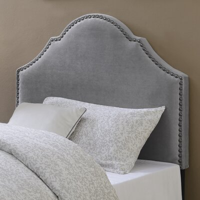Carly Upholstered Panel Headboard Upholstery: Smoke, Size: Twin