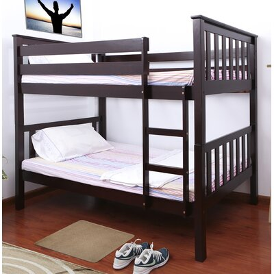 Owen Twin over Twin Bunk Bed Color: Cappuccino