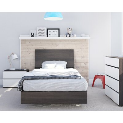 Marcheline Twin Platform Bed Color: Ebony