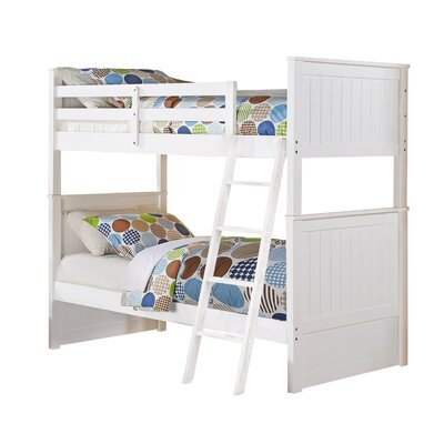 Leann Twin over Twin Bunk Bed Color: White