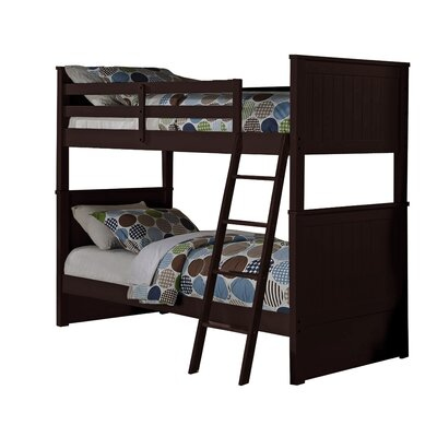 Leann Twin over Twin Bunk Bed Color: Espresso