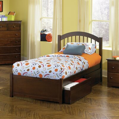 Matt Twin XL Panel Bed with Drawers Finish: Caramel Latte