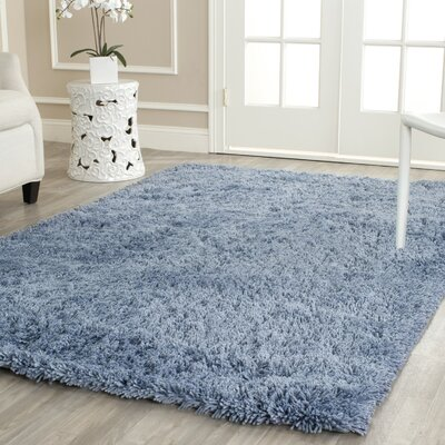 Ariel Light Blue Area Rug Rug Size: Rectangle 76 x 96