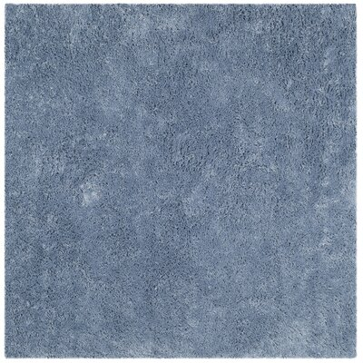 Ariel Light Blue Area Rug Rug Size: Square 7'