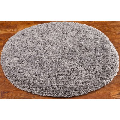 Ariel Gray Area Rug Rug Size: Round 4