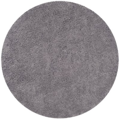 Ariel Gray Area Rug Rug Size: Round 6