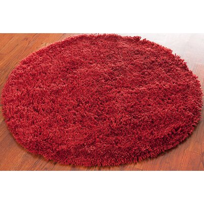 Ariel Rust Area Rug Rug Size: Round 4