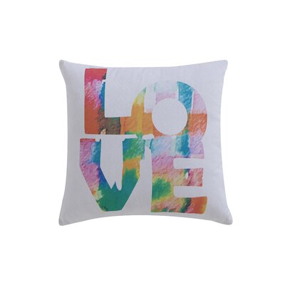 Lydia Printed Love Cotton Throw Pillow